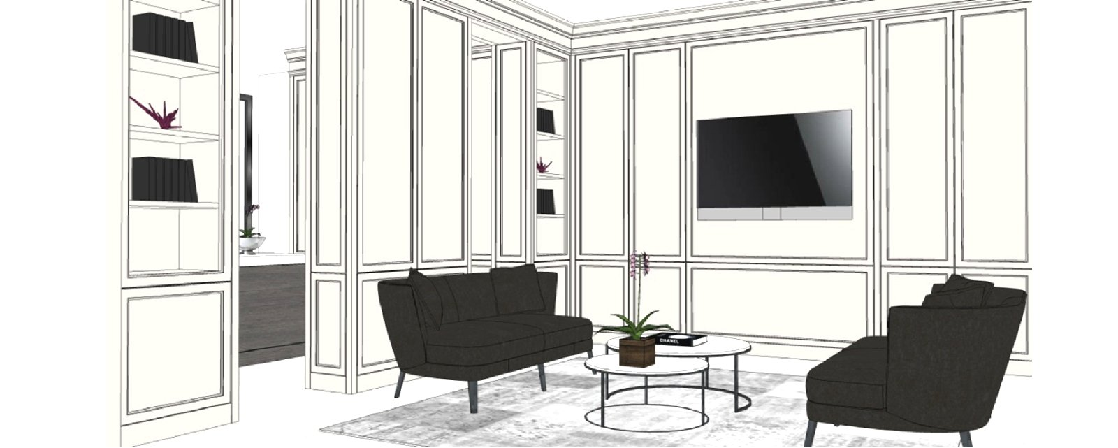 3D TV room